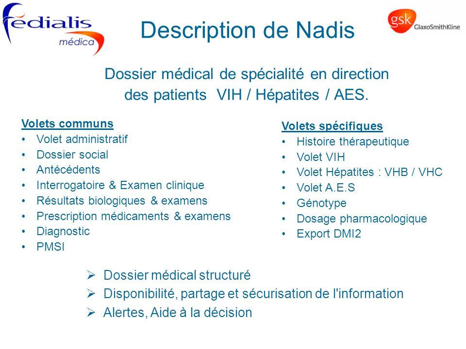 Description de Nadis Dossier médical de spécialité en direction