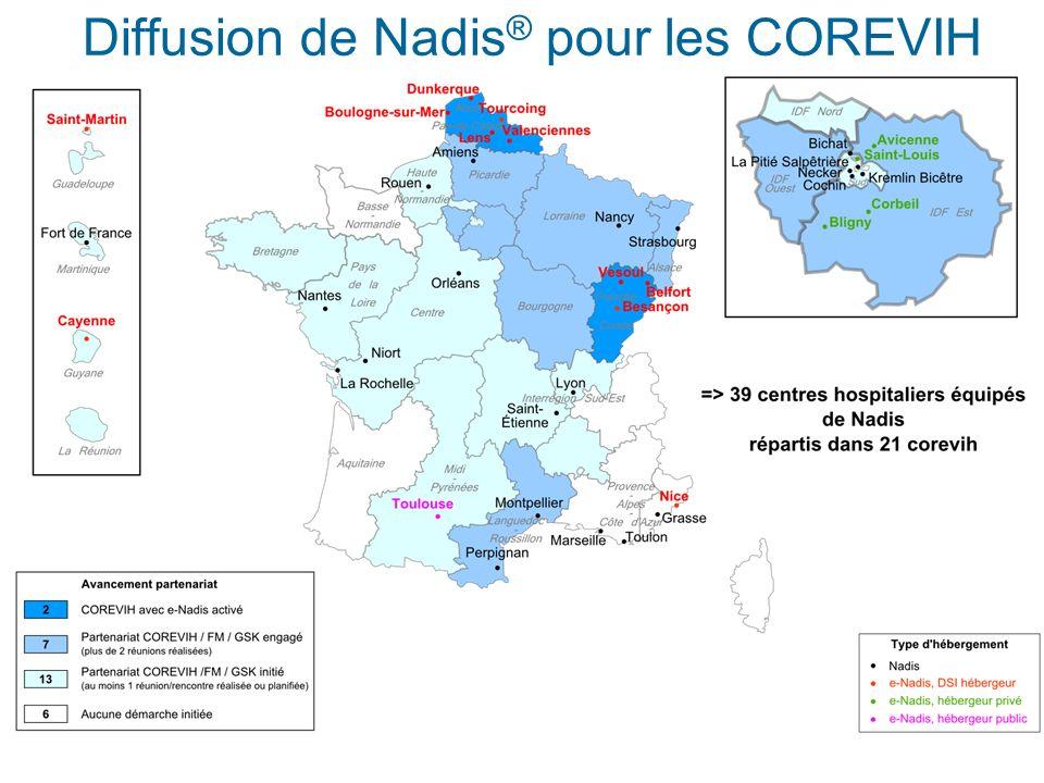 Diffusion de Nadis® pour les COREVIH