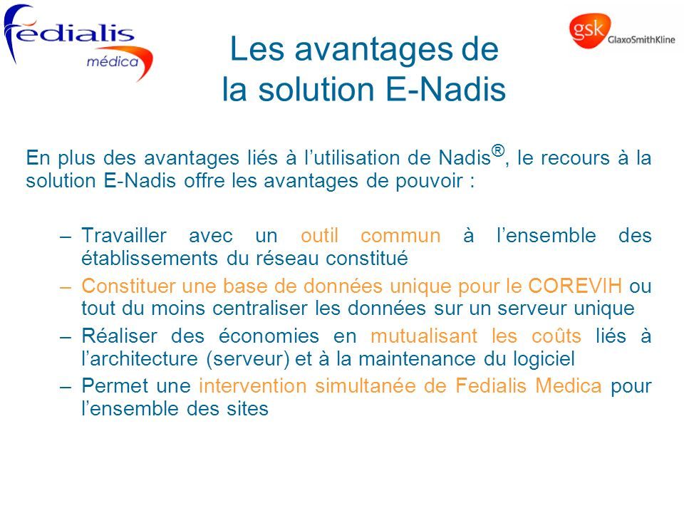 Les avantages de la solution E-Nadis