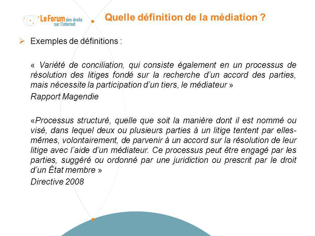Quelle définition de la médiation