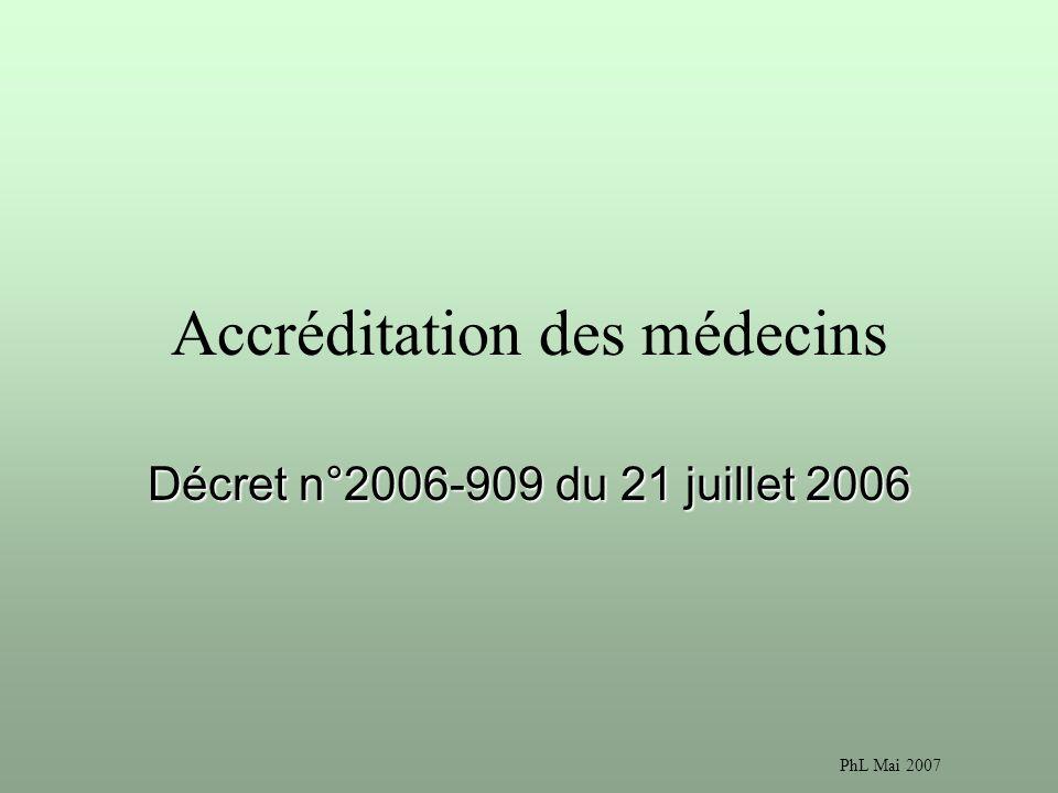 Accréditation des médecins