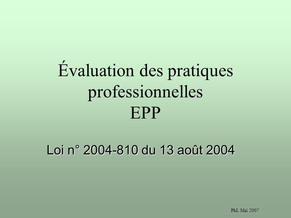 Évaluation des pratiques professionnelles EPP