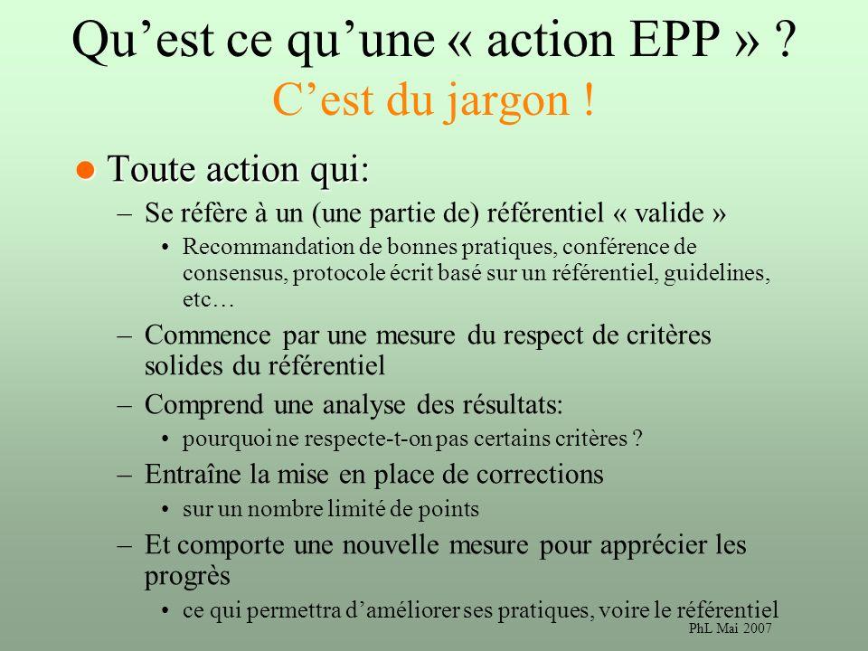 Qu'est ce qu'une « action EPP » C'est du jargon !