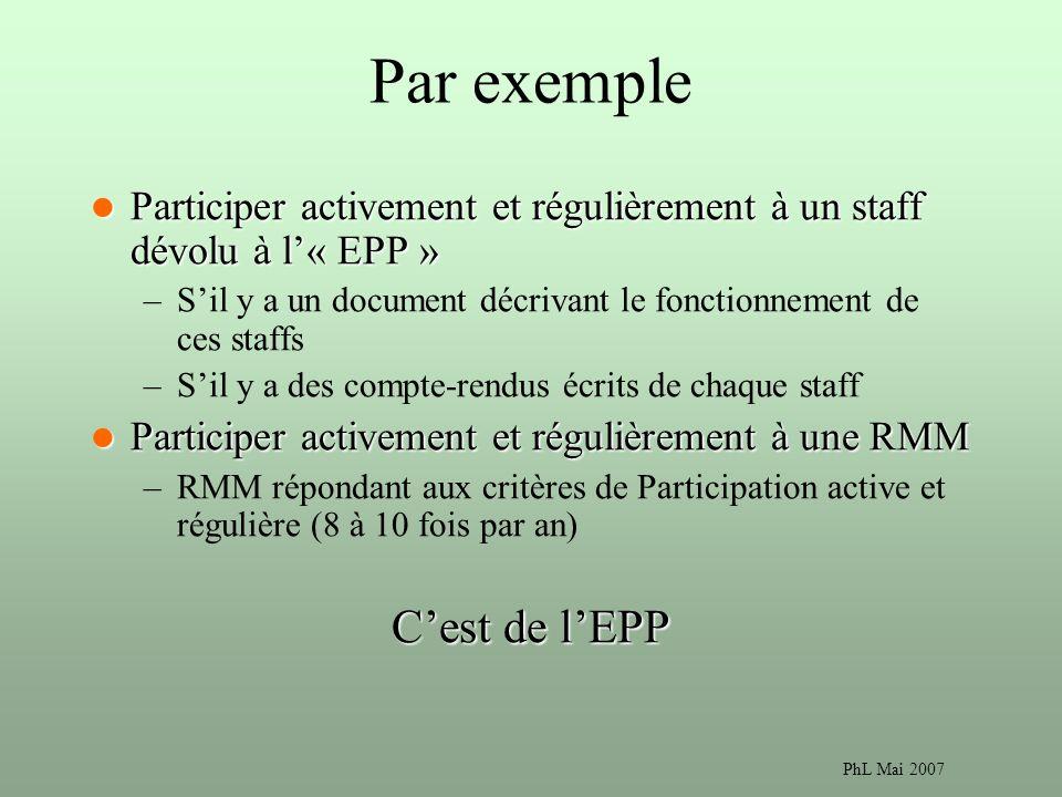Par exemple C'est de l'EPP