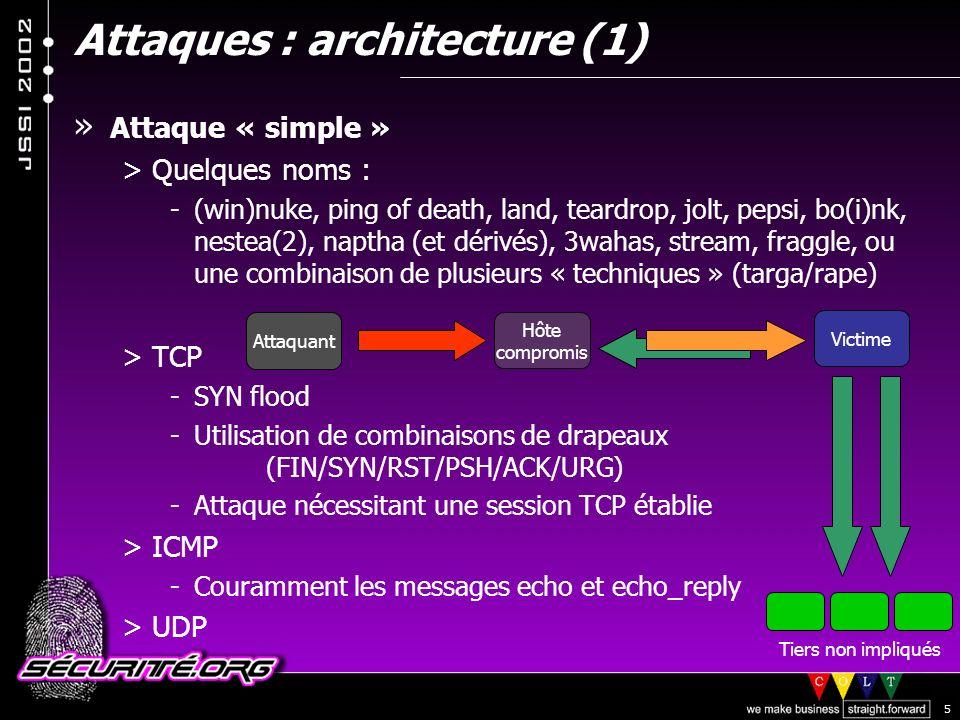 Attaques : architecture (1)