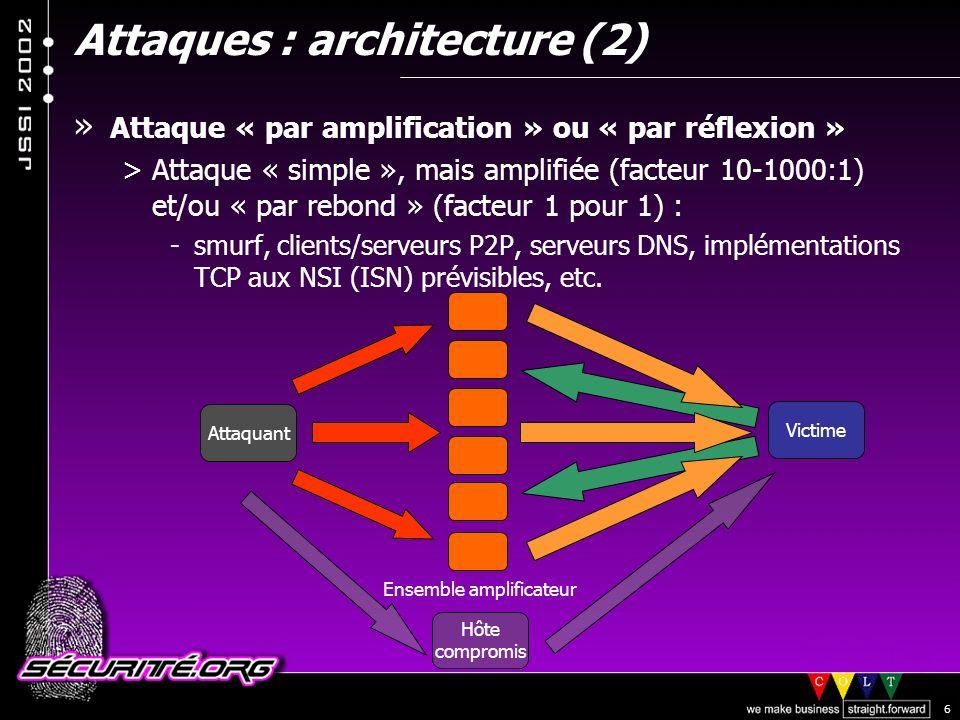 Attaques : architecture (2)