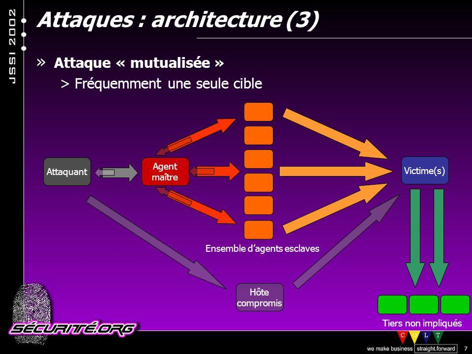 Attaques : architecture (3)