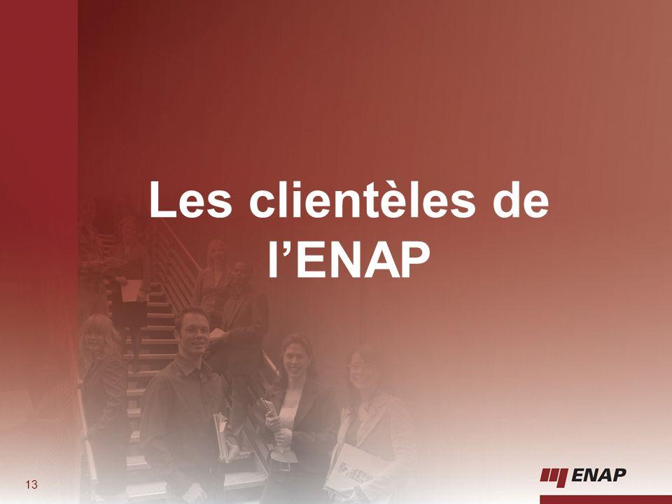 Les clientèles de l'ENAP
