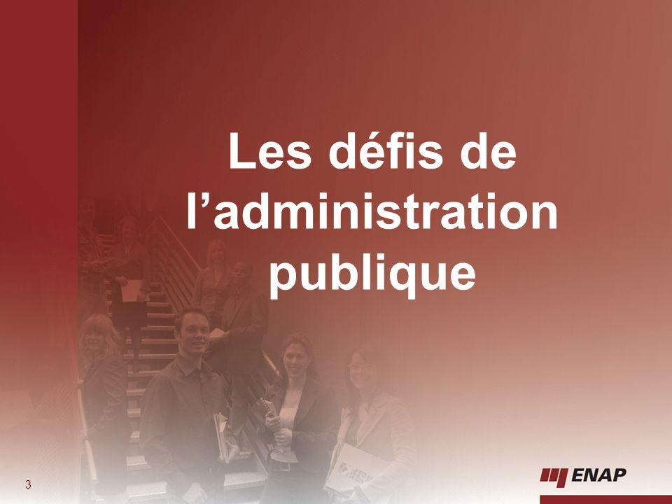 Les défis de l'administration publique