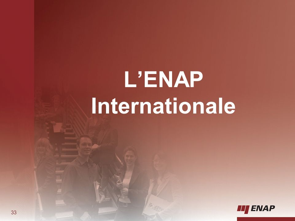 L'ENAP Internationale