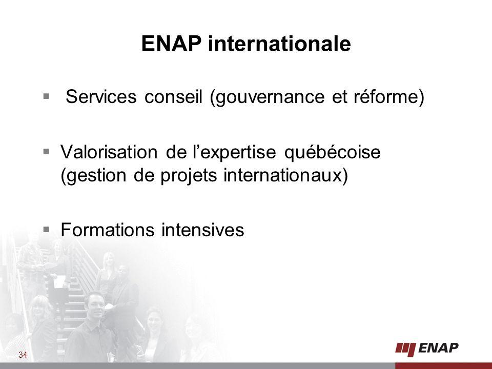 ENAP internationale Services conseil (gouvernance et réforme)
