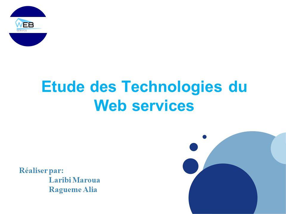 Etude des Technologies du Web services