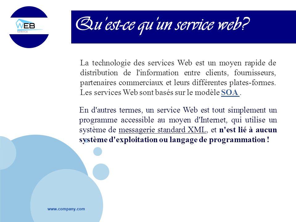 Qu'est-ce qu'un service web