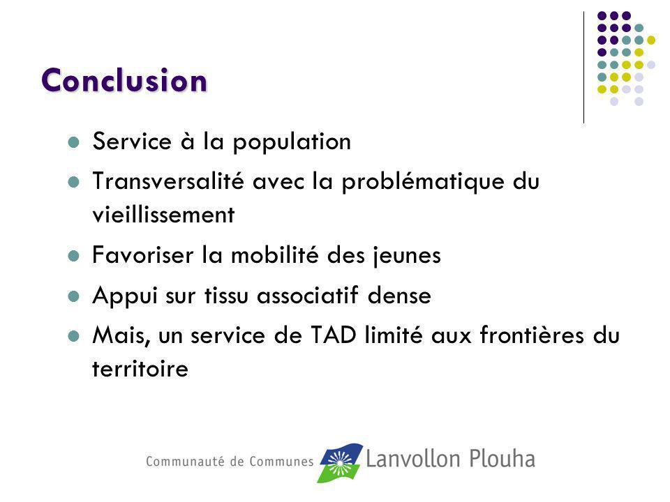 Conclusion Service à la population