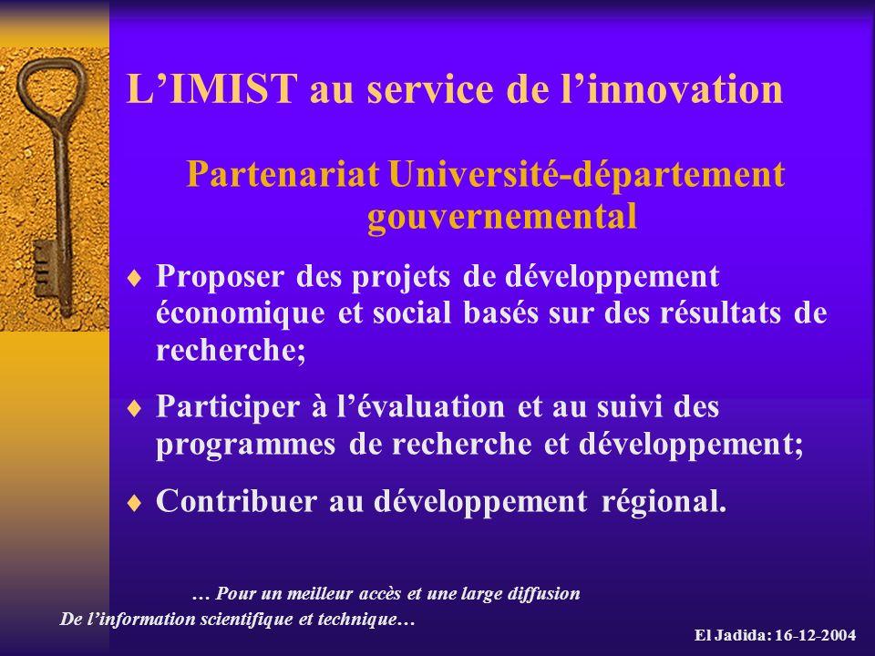 L'IMIST au service de l'innovation