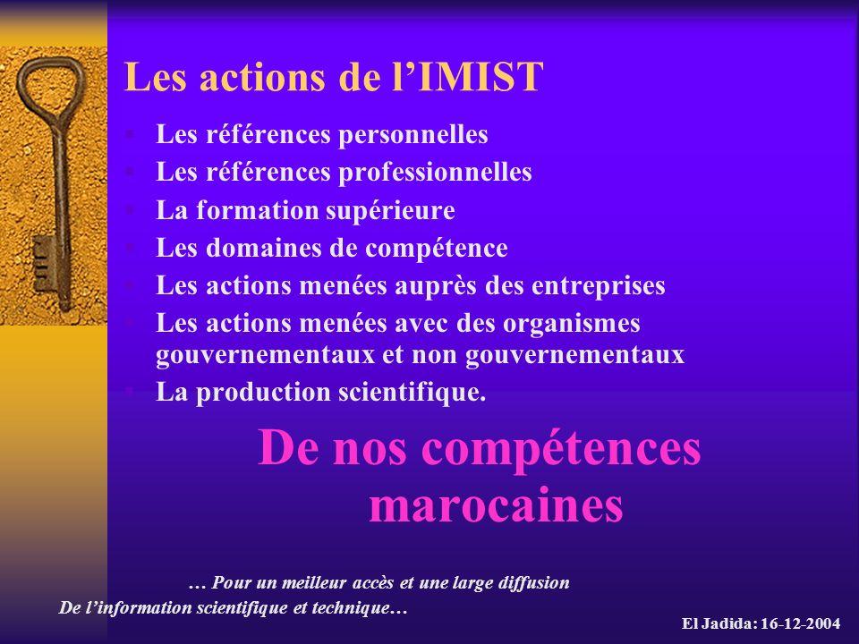 De nos compétences marocaines