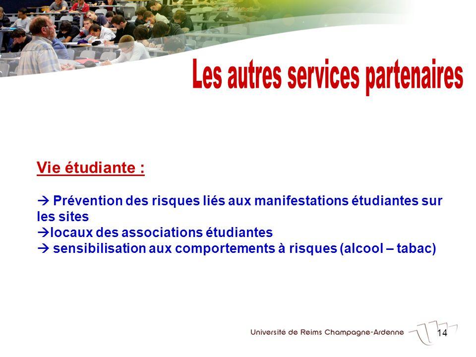 Les autres services partenaires