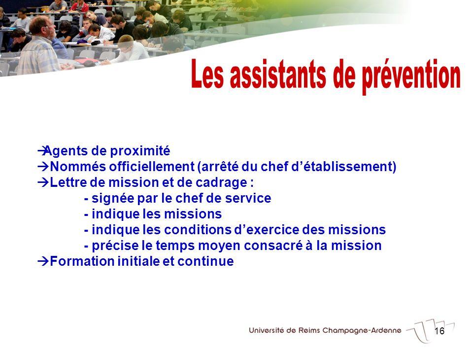 Les assistants de prévention