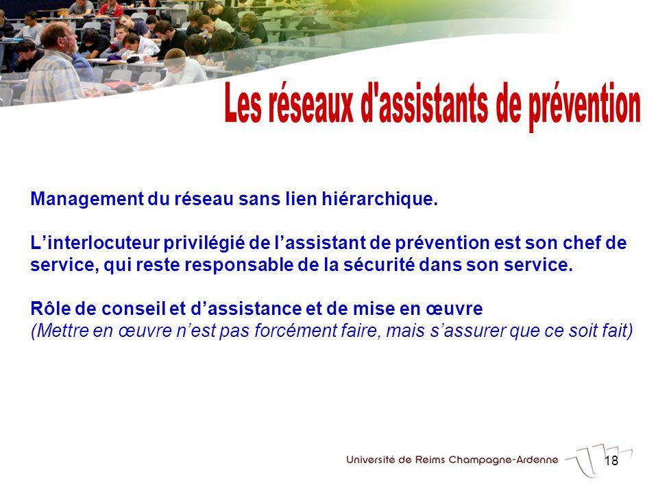 Les réseaux d assistants de prévention