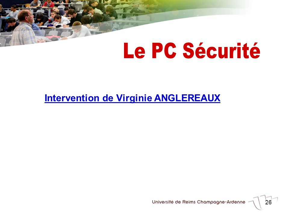 Intervention de Virginie ANGLEREAUX
