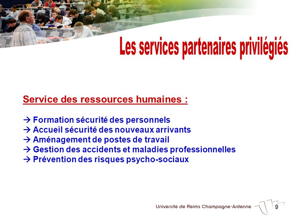 Les services partenaires privilégiés
