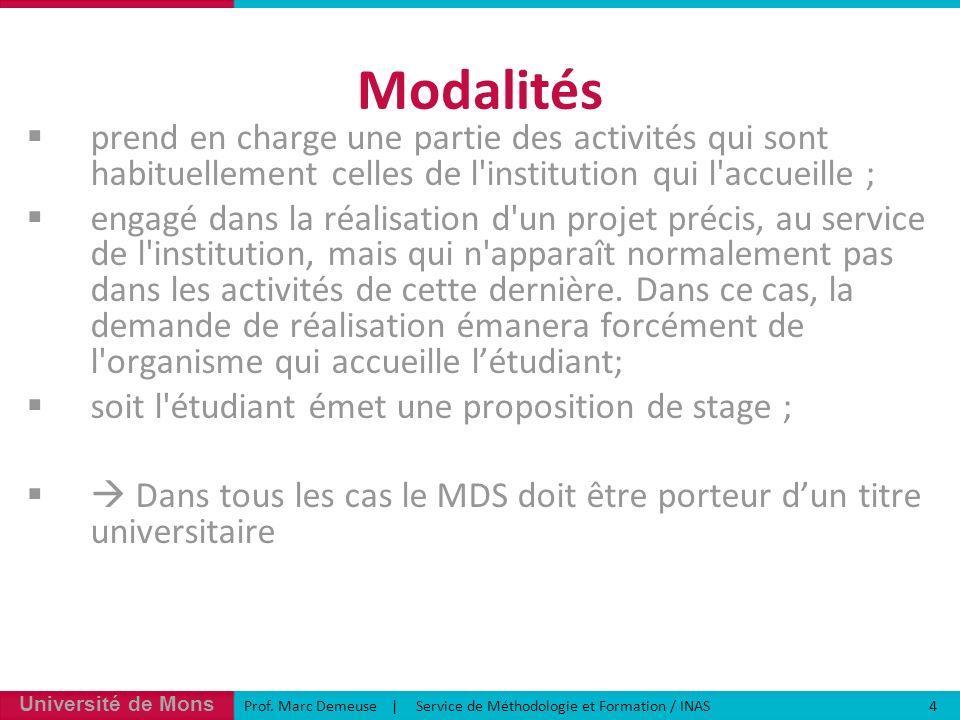 Modalités prend en charge une partie des activités qui sont habituellement celles de l institution qui l accueille ;