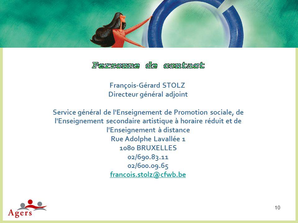 François-Gérard STOLZ Directeur général adjoint