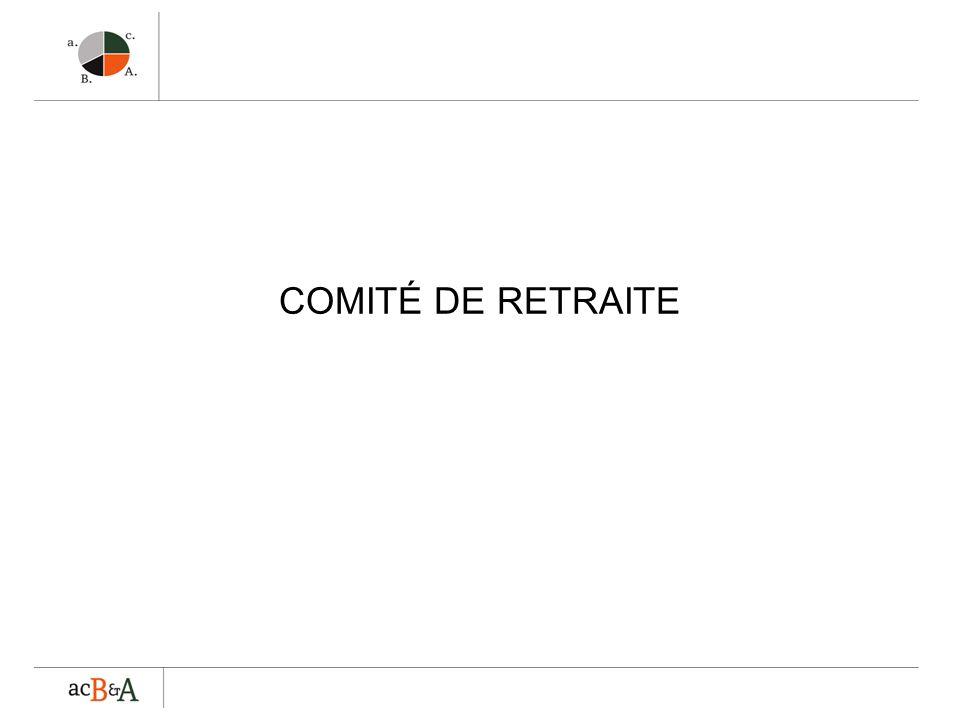 COMITÉ DE RETRAITE