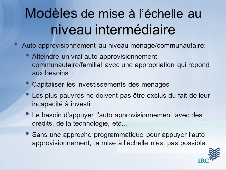 Modèles de mise à l'échelle au niveau intermédiaire