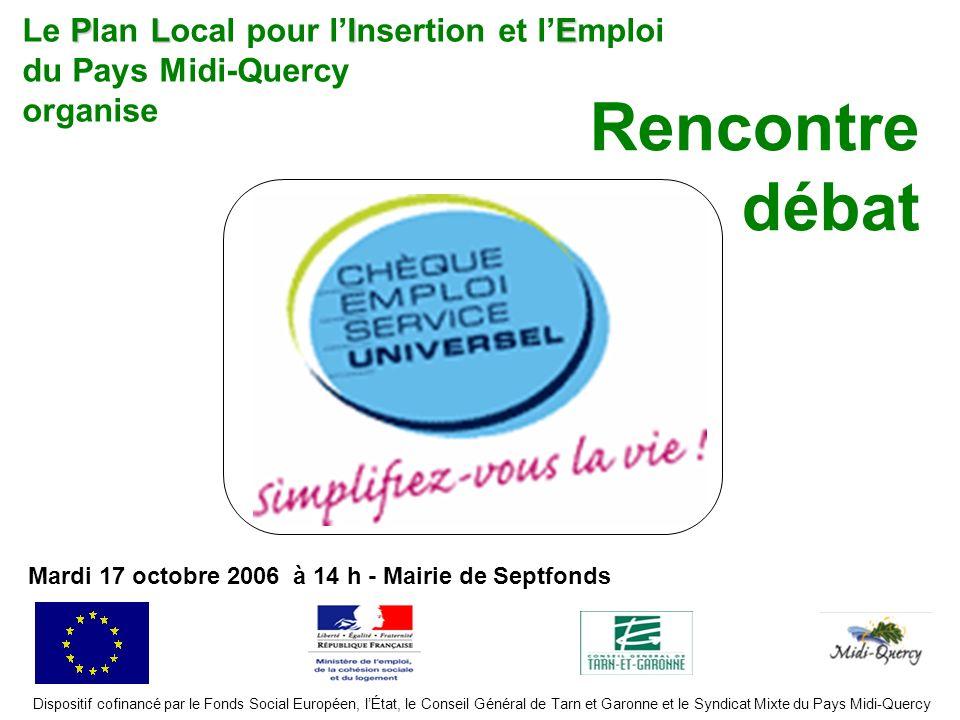 Rencontre débat Le Plan Local pour l'Insertion et l'Emploi