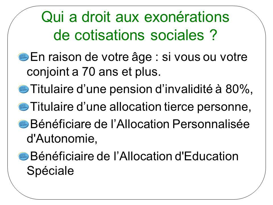 Qui a droit aux exonérations de cotisations sociales