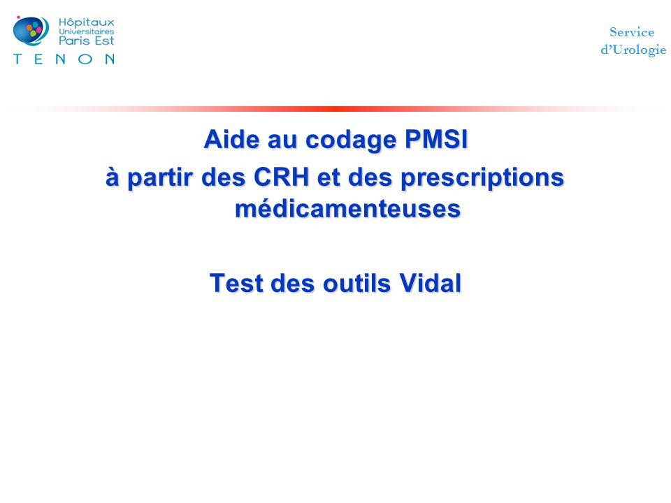 à partir des CRH et des prescriptions médicamenteuses