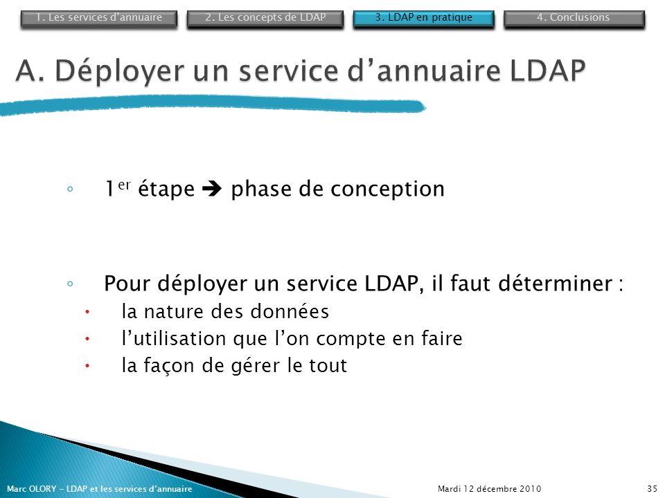 A. Déployer un service d'annuaire LDAP