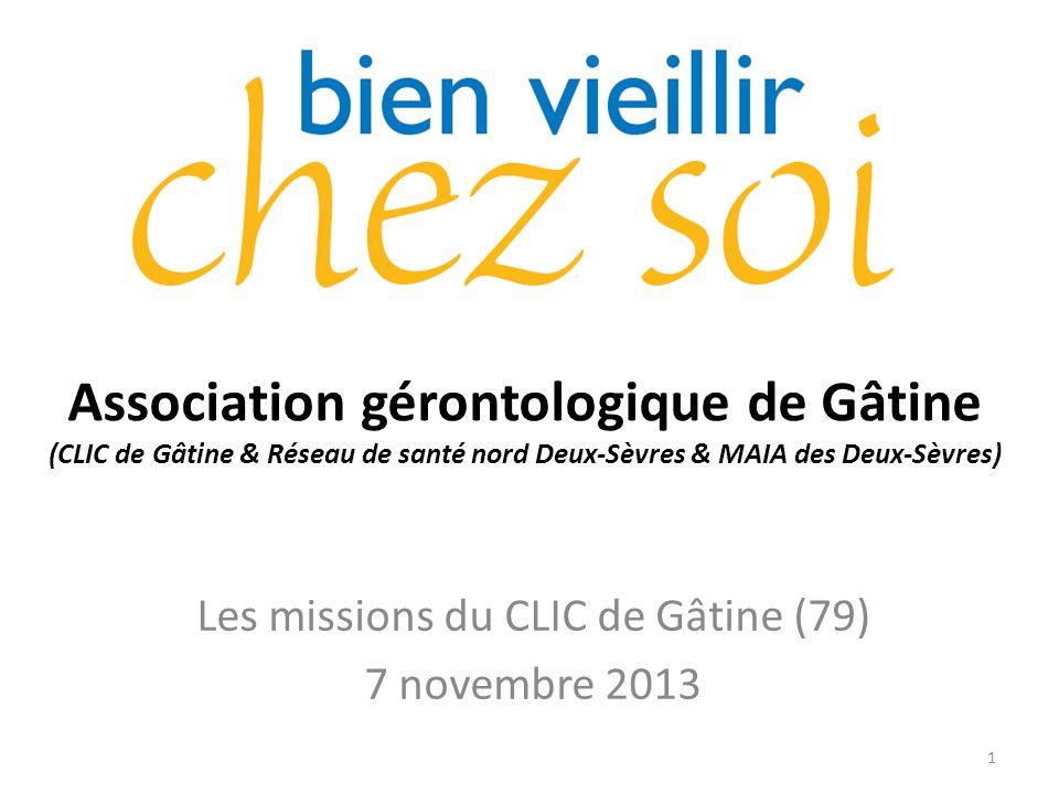 Les missions du CLIC de Gâtine (79) 7 novembre 2013