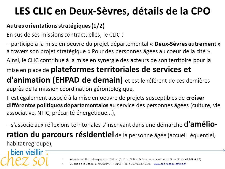 LES CLIC en Deux-Sèvres, détails de la CPO