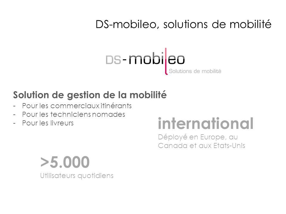 DS-mobileo, solutions de mobilité