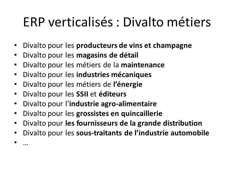 ERP verticalisés : Divalto métiers