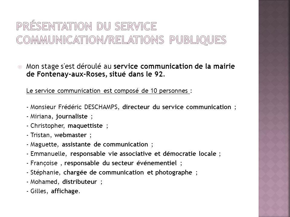 Présentation du service communication/Relations publiques