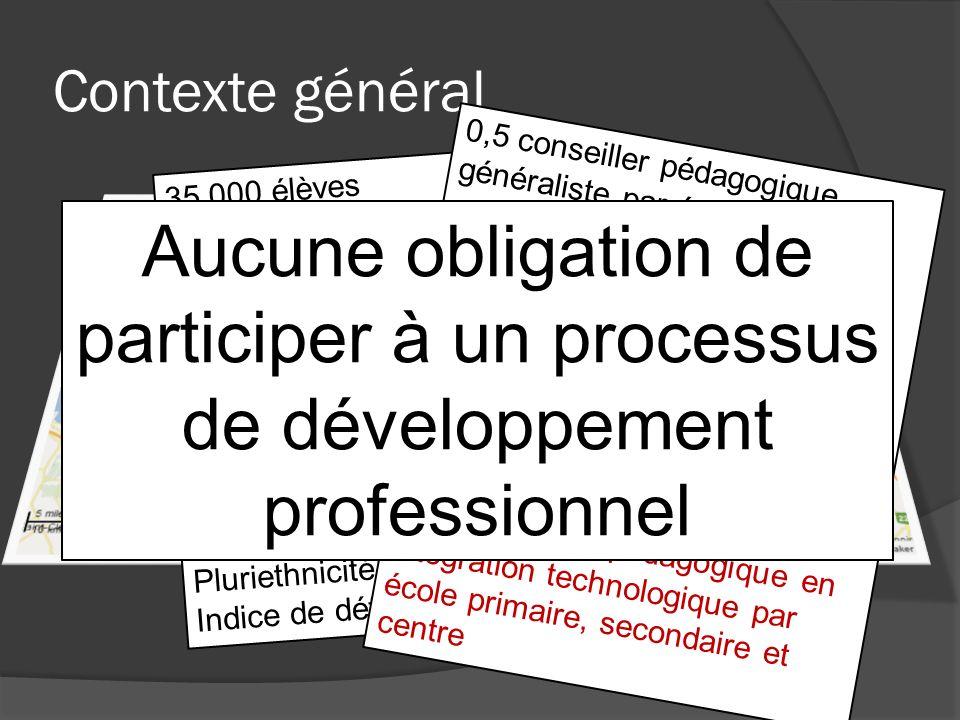 Contexte général 0,5 conseiller pédagogique généraliste par école primaire. 1 conseiller pédagogique généraliste par école secondaire.