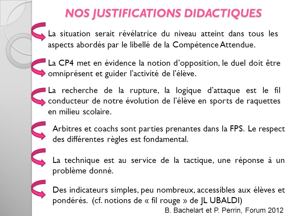 NOS JUSTIFICATIONS DIDACTIQUES
