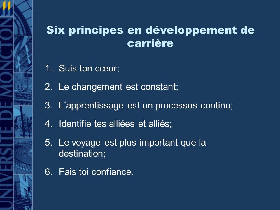 Six principes en développement de carrière