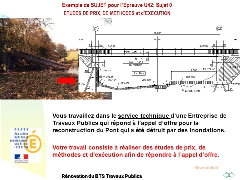 Exemple de SUJET pour l'Epreuve U42: Sujet 0