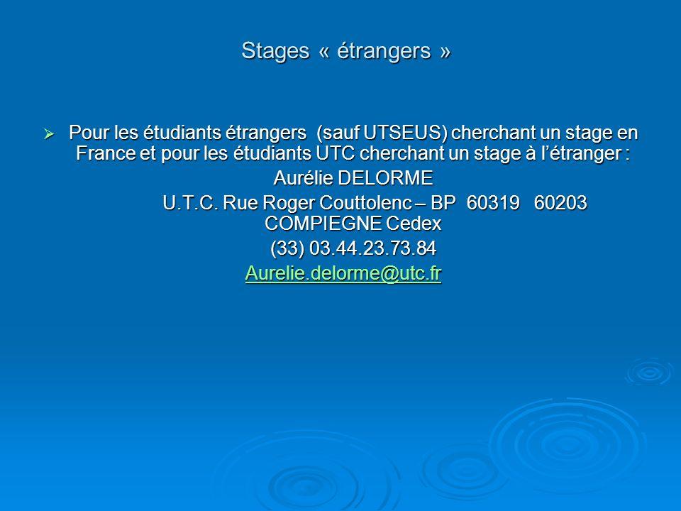 U.T.C. Rue Roger Couttolenc – BP 60319 60203 COMPIEGNE Cedex