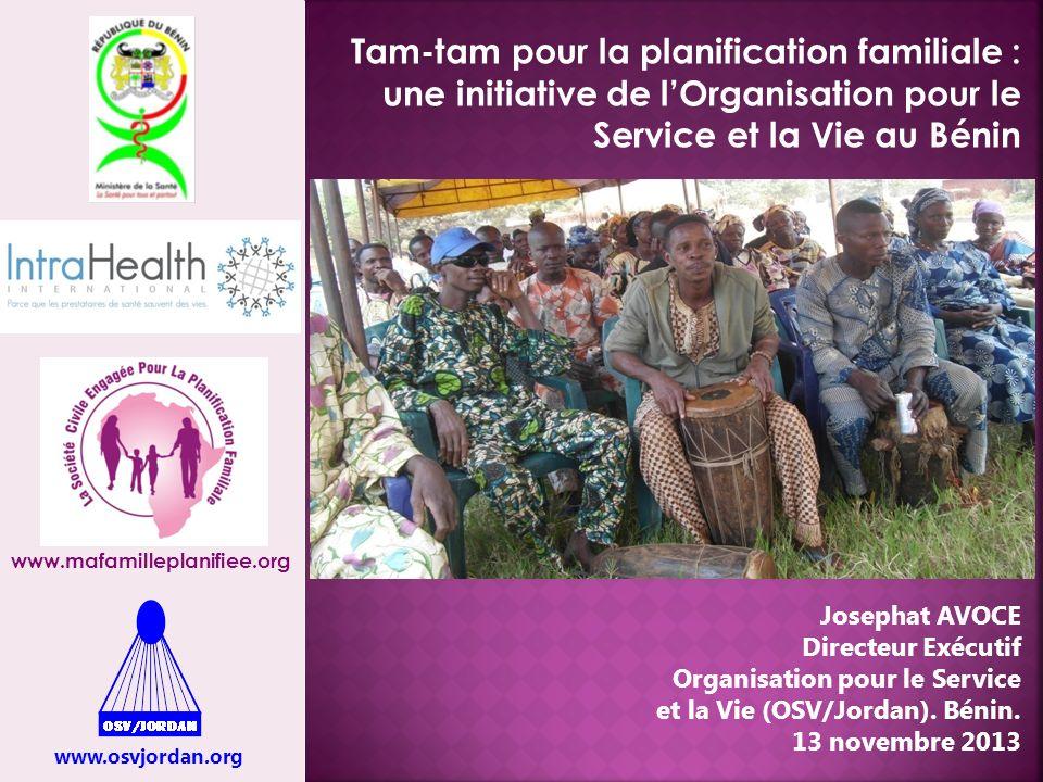 Tam-tam pour la planification familiale : une initiative de l'Organisation pour le Service et la Vie au Bénin