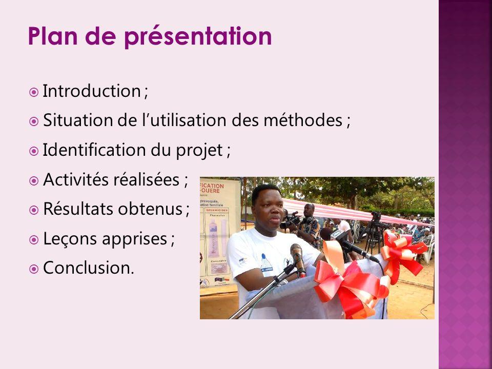 Plan de présentation Introduction ;