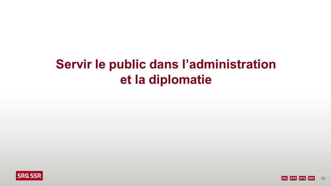 Servir le public dans l'administration et la diplomatie