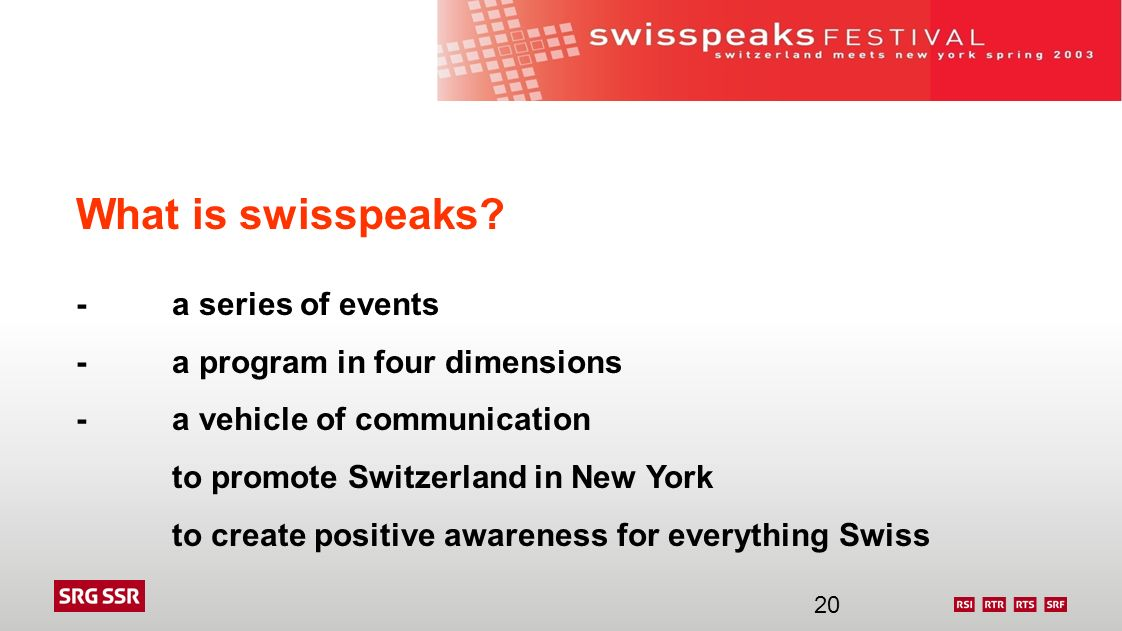What is swisspeaks - a series of events