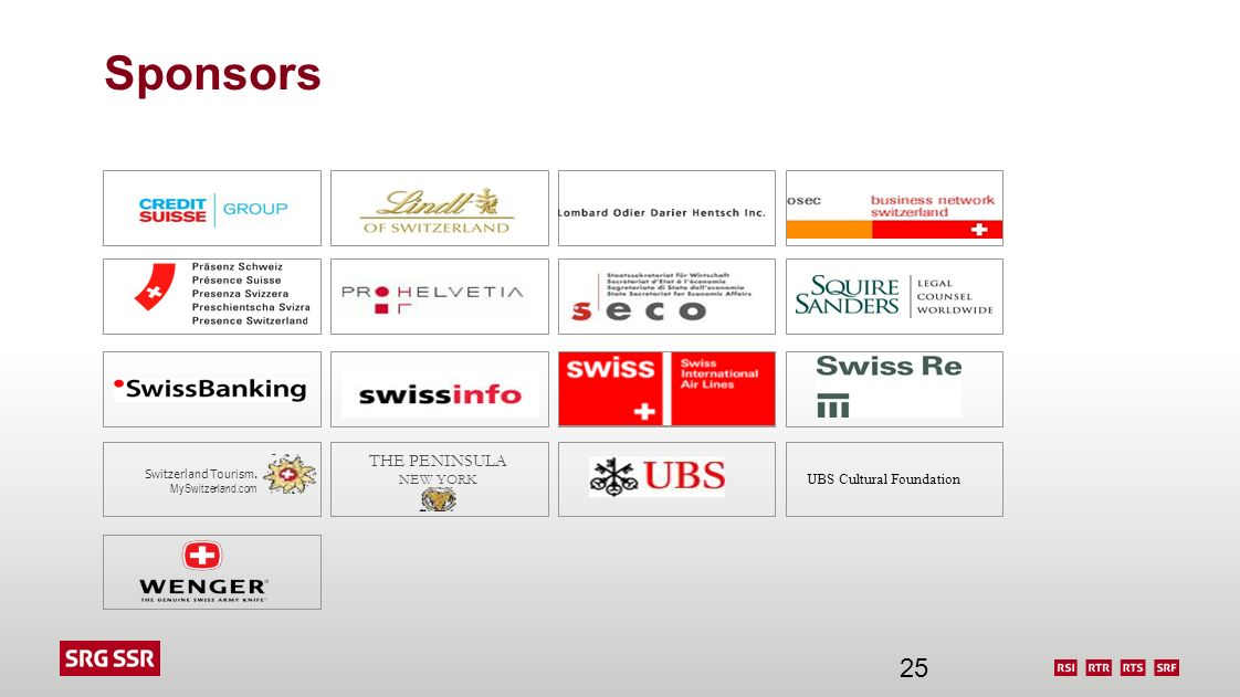 Sponsors THE PENINSULA NEW YORK UBS Cultural Foundation