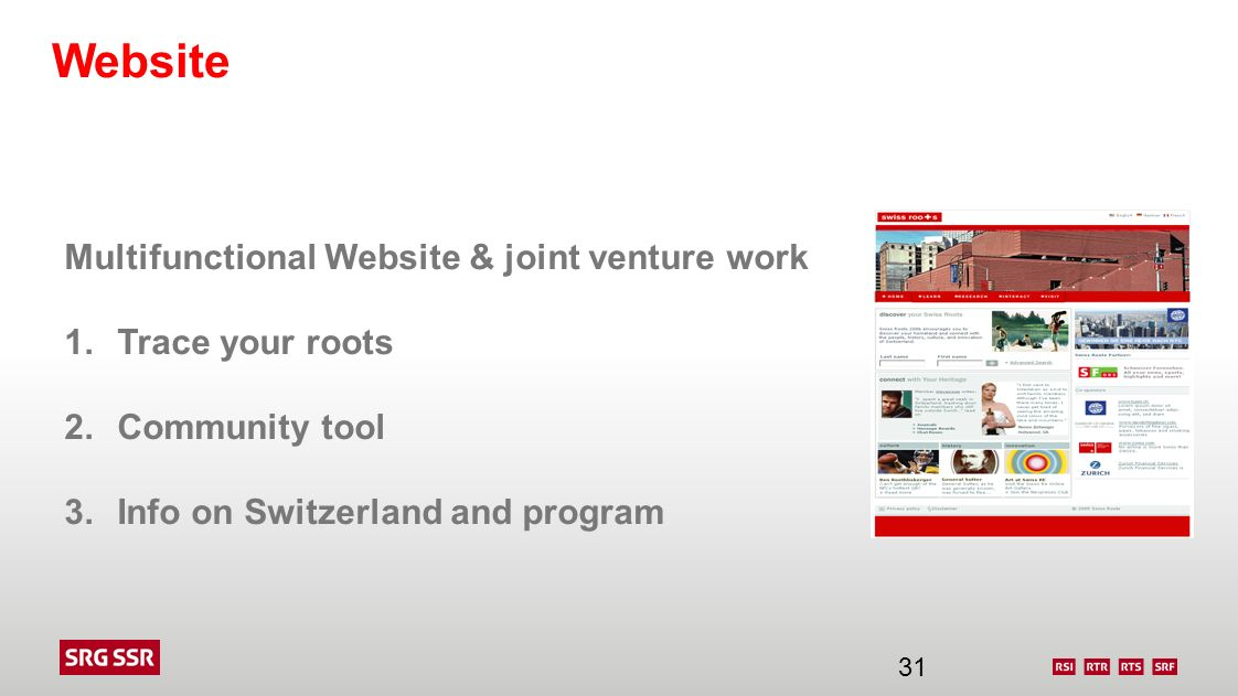 Website Multifunctional Website & joint venture work Trace your roots