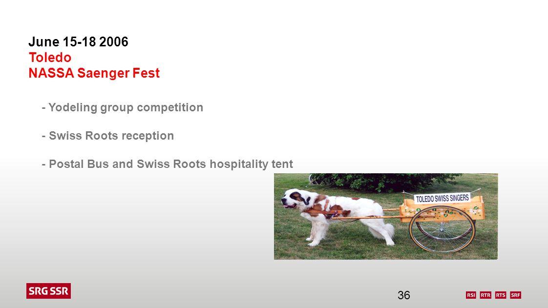 June 15-18 2006 Toledo NASSA Saenger Fest